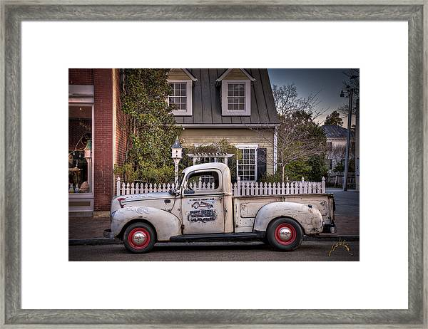 Smithfield Truck Framed Print by Williams-Cairns Photography LLC