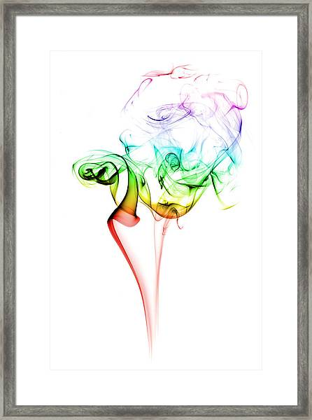 Smoke And Colours Framed Print