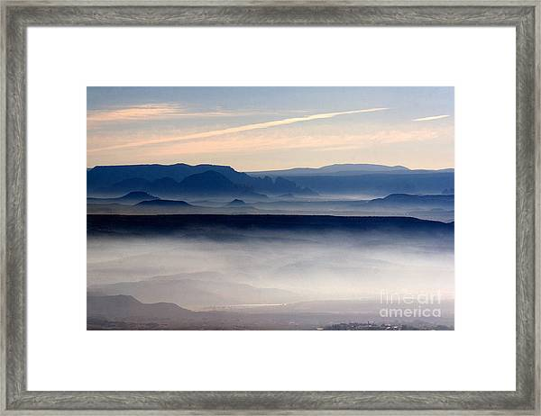 Smoke From A Forest Fire As Seen From Jerome Arizona Framed Print