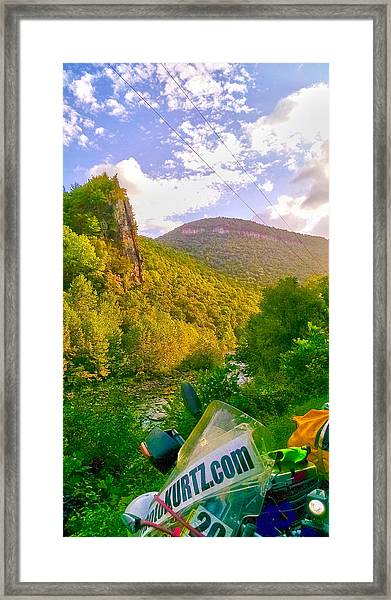Smoke Hole Canyon Framed Print
