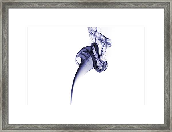 Smoke Pattern Framed Print