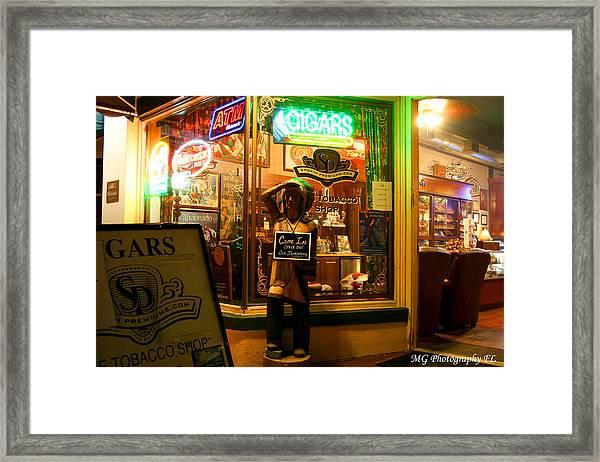 Smoke Shop Framed Print