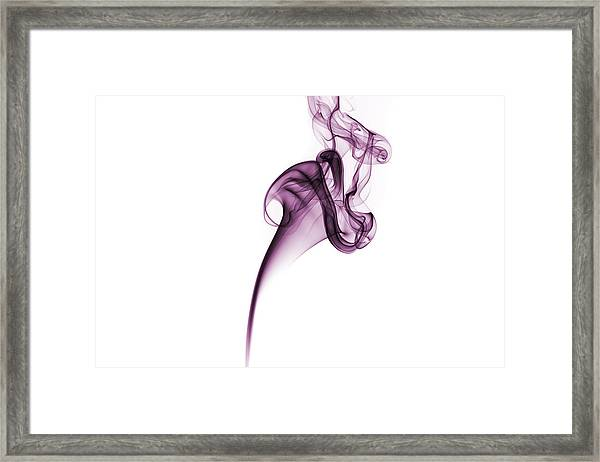 Smoke Swirl Framed Print