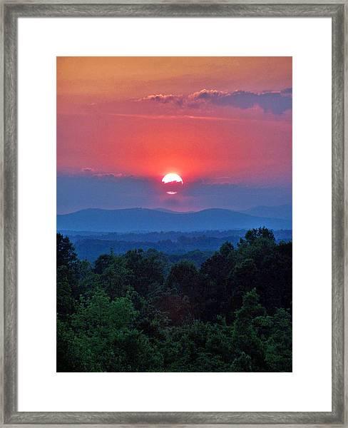 Smokey Mtn Sunset Framed Print