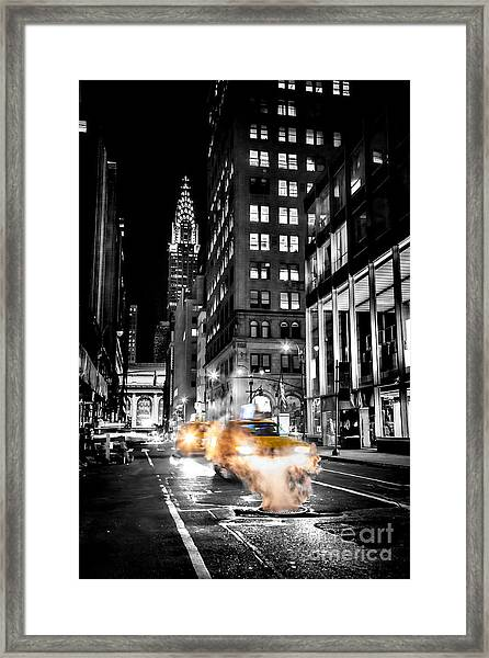 Smoking Streets Of New York  Framed Print