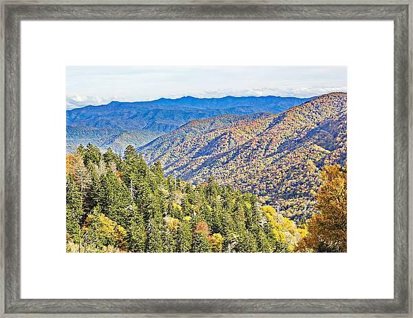 Smoky Mountain Autumn Vista Framed Print