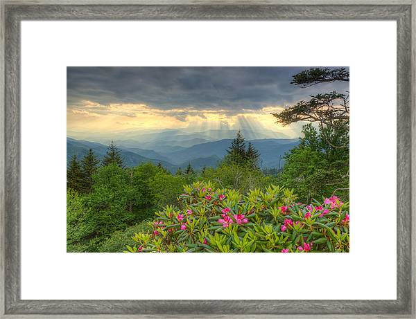 Spring Sunset - Great Smoky Mountains Framed Print