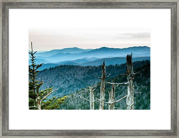 Smoky Mountain Overlook Framed Print