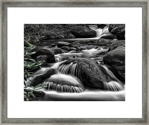 Smoky Mountains Cascades Framed Print
