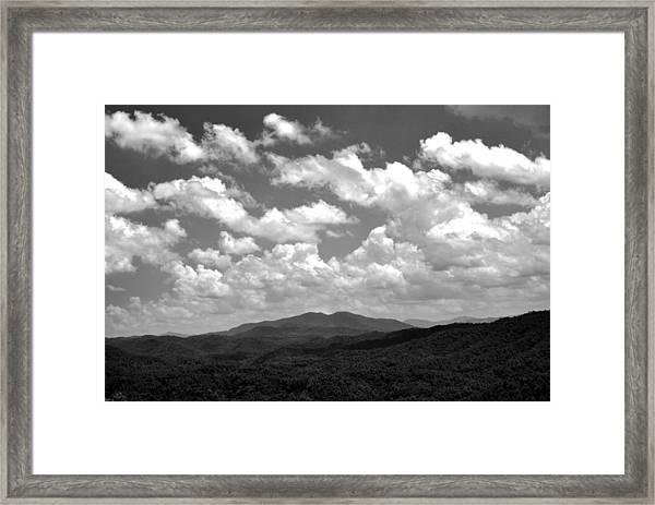 Smoky Peaks And Sky 2 Framed Print