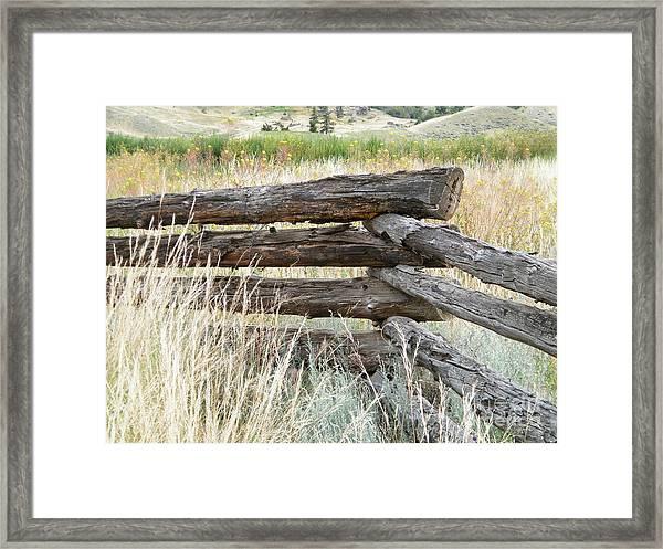 Snake Fence And Sage Brush Framed Print