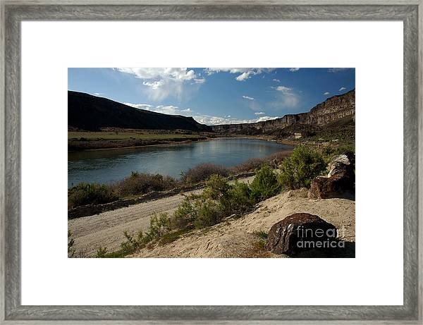 715p Snake River Birds Of Prey Area Framed Print