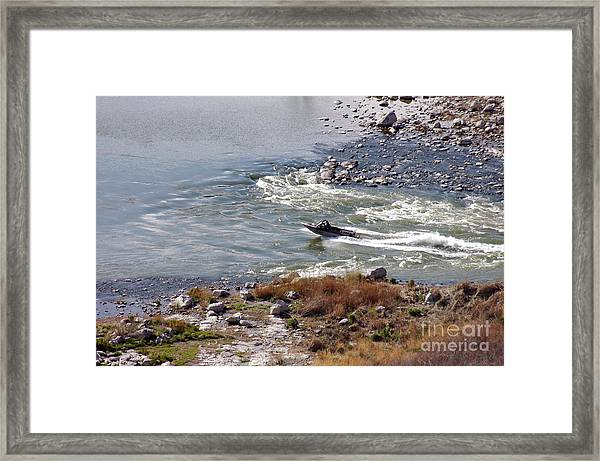 406p Snake River Boating Framed Print