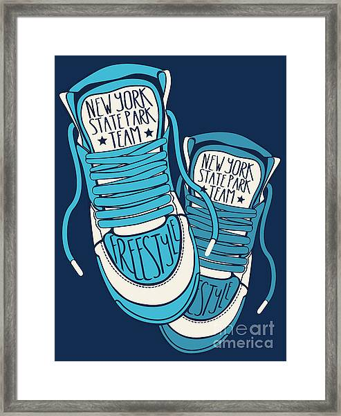 Sneakers Graphic Design For Tee Framed Print