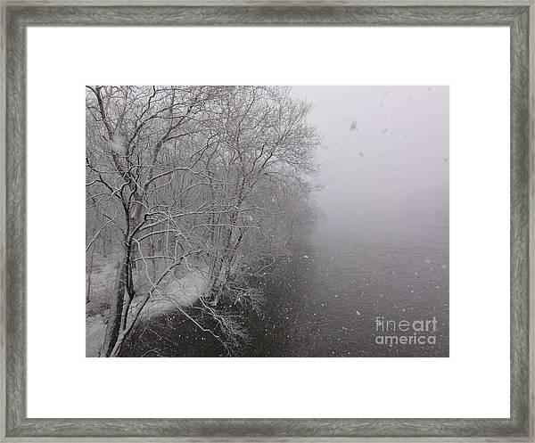 Snow At Bulls Island - 12 Framed Print