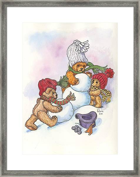 Snow Bears Framed Print