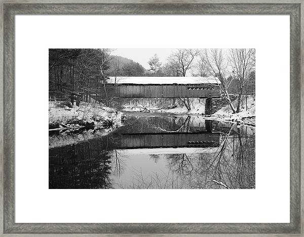Snow Covered Coombs Framed Print