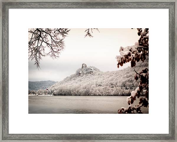 Snow Covered Sugarloaf Framed Print