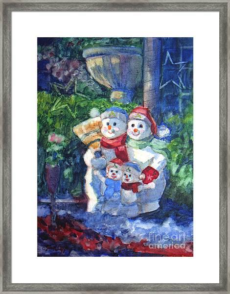 Snow Family Framed Print