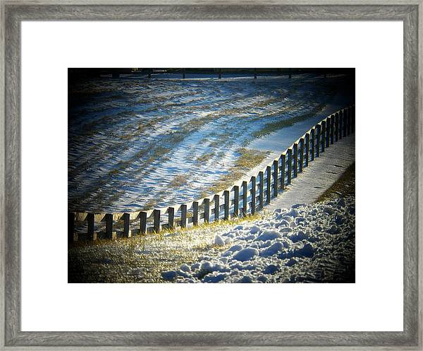 Snow In The Field Framed Print