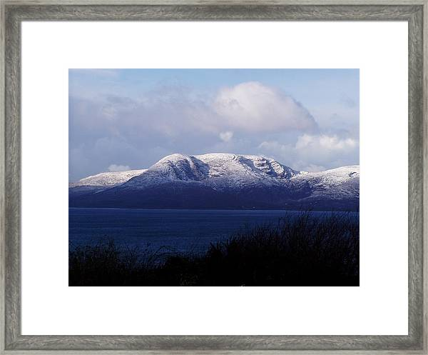 Snow On Hungry Hill Framed Print