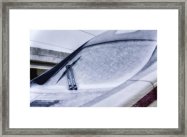 Snow On The Train Framed Print