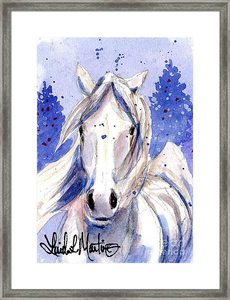 Snow Pony 2 Framed Print