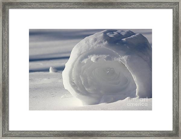Snow Roller In Late Afternoon Framed Print