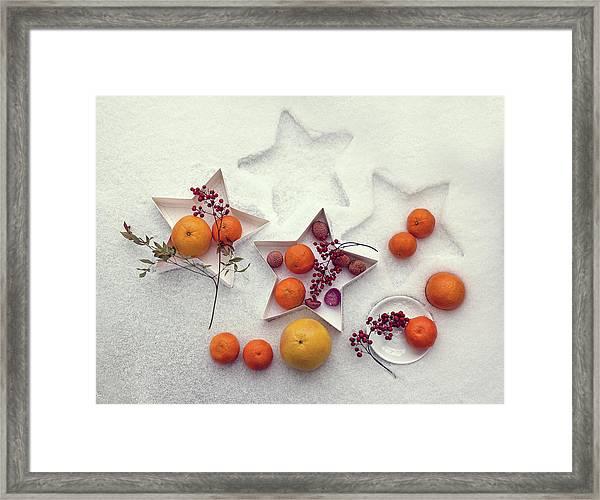 Snow Still Life Framed Print