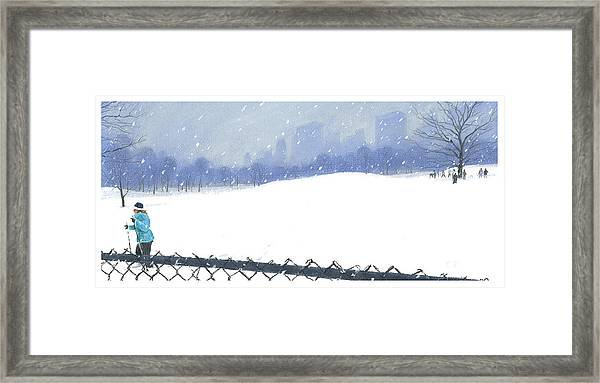 Snow Storm Framed Print
