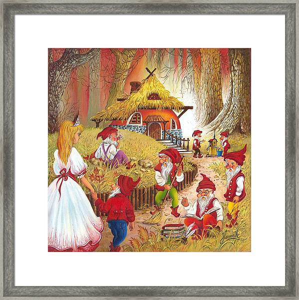 Snow White And The Seven Dwarfs Framed Print