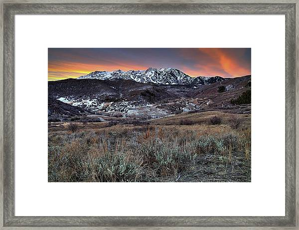 Snowbasin Fire And Ice Framed Print