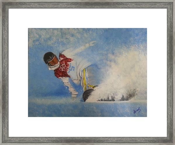 Snowboarder Framed Print