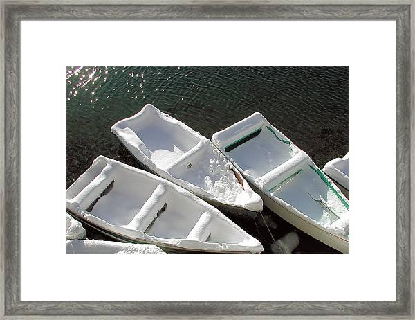 Snowboats Framed Print