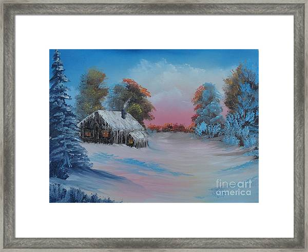 Snowbound.....but Gorgeous Framed Print