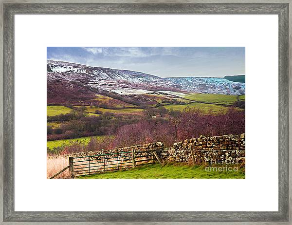 Snowcapped North Yorkshire Moors Framed Print