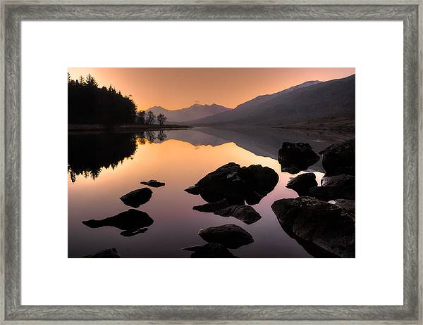 Snowdon At Dusk Framed Print