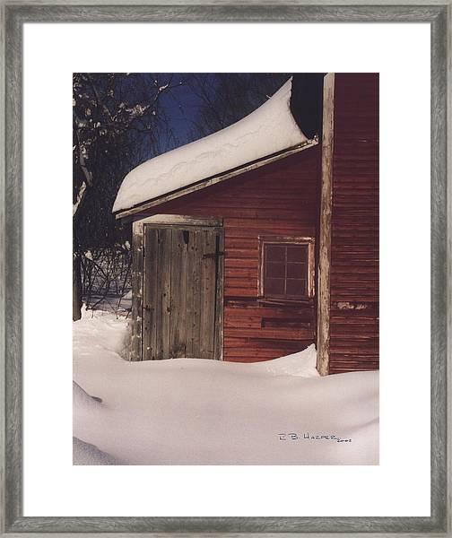 Snowed Out Framed Print