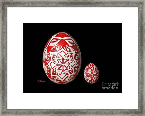 Snowflake Lace 1 - Red And White Framed Print