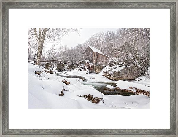 Snowglade Creek Grist Mill 1 Framed Print