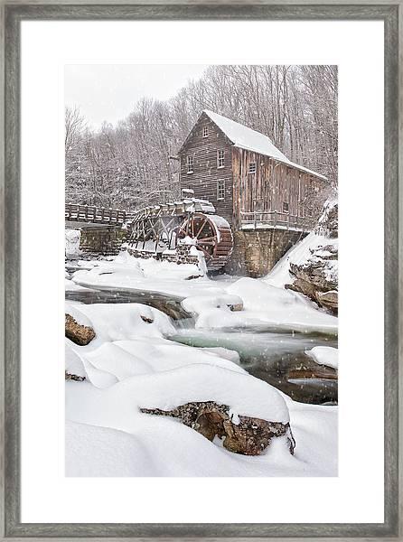 Snowglade Creek Grist Mill Framed Print