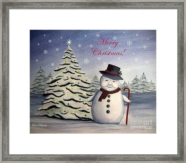 Snowman's Christmas Framed Print