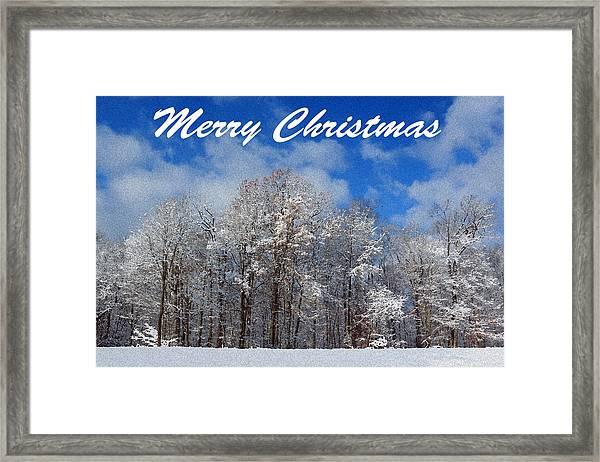 Snowy Christmas Framed Print