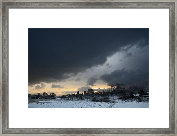 Snowy Dawn Framed Print