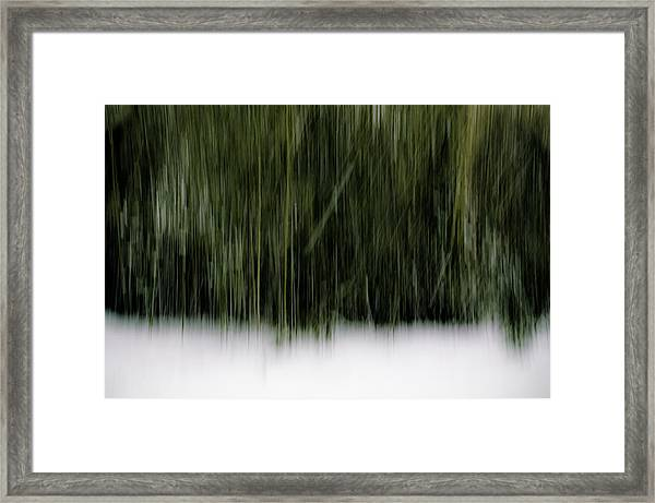Framed Print featuring the photograph Snowy Day Abstract by Steve Stanger