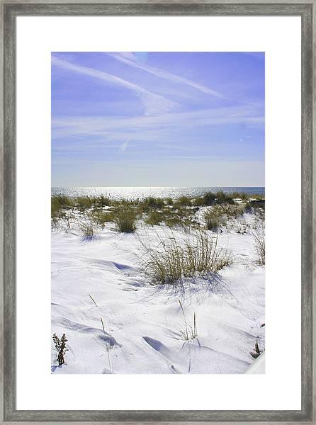 Snowy Dunes Framed Print