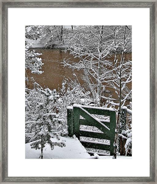 Snowy River Gate Framed Print