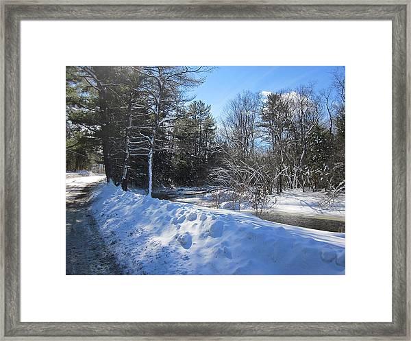 Snowy River Road Framed Print
