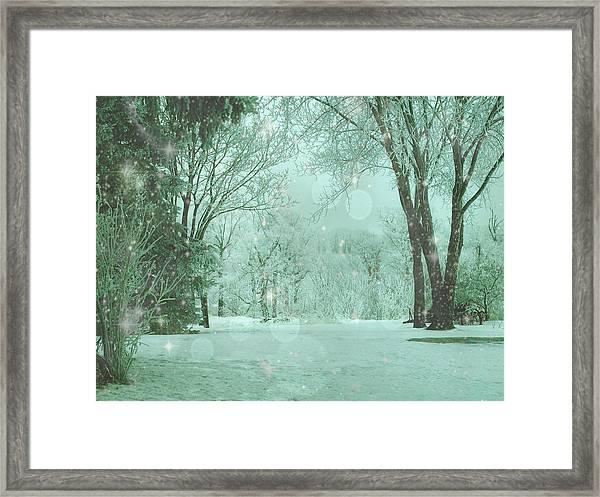 Snowy Winter Night Framed Print