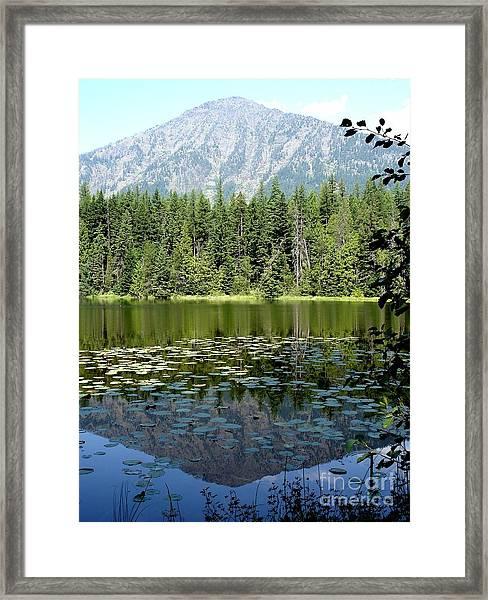 Snyder Lake Reflection Framed Print